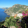 Looking down 1400 feet from Nocelle to Positano
