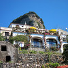 A view looking at Casa Cuccaro from the village church
