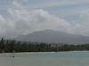 A view of El Yunque from the beach.