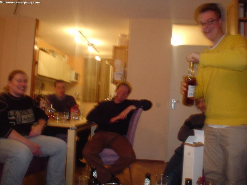 Later that evening, whiskey was served (notice the slightly more instable hand by now)