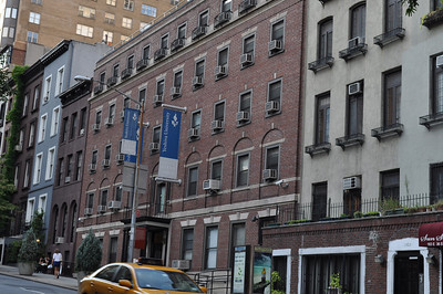 When Penny moved to Manhattan, she lived in this Board & Room facility (Brown Brick) for $26 a week, including breakfast and dinner.