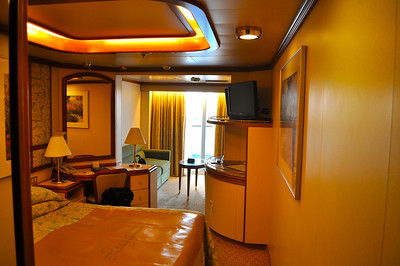 Mini-Suite.  Total $2,500 for the both of us for a week's cruise.