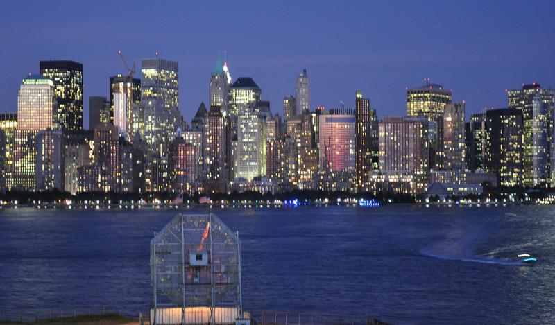 The Colgate Clock watching over Manhattan
