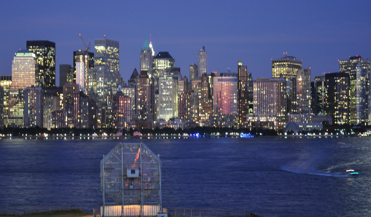 The Colgate Clock watching over Manhattan