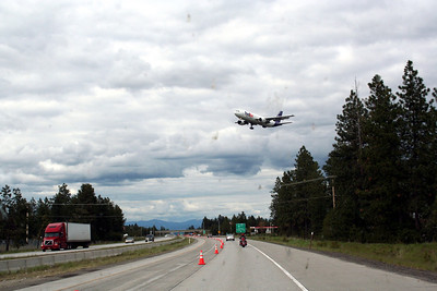 We were driving past the Spokane Airport. Boy do the plains fly low over the freeway.