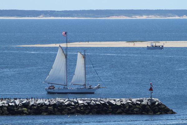 Bay Lady Schooner II rounding the tip of Cape Cod