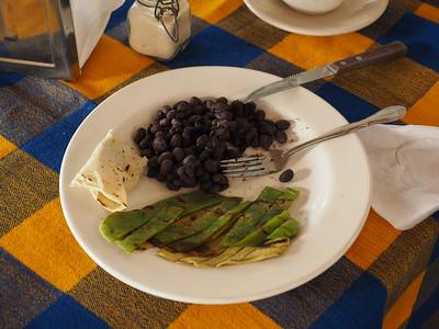 Frijoles & Rajas de nopal