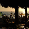 The restaurant opens onto the beach boardwalk.  We saw everything from lovers to fighters during our meal.