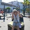 Marilyn on a bronze sculpture near Malecon....