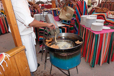 Making churros, Fiesta at Dreams Vallarta