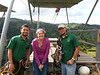 Zora with our guides, after finishing the zipline