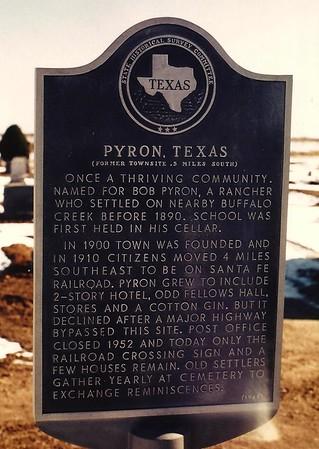 Pyron, Texas     Fall 1980