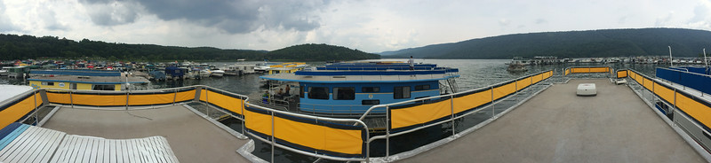 Houseboat deck panoramic