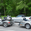 "Silver Honda Goldwing modified in ""Trike"" fashion. ..Sebring silver Honda S2000 mods are not required."