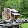 One of the first houses built by white European settlers. Initially, they survived on dried pumpkin given to them by the Cherokee.