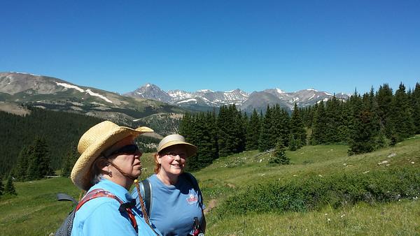Hiking Black Powder Trail on Boreas Pass