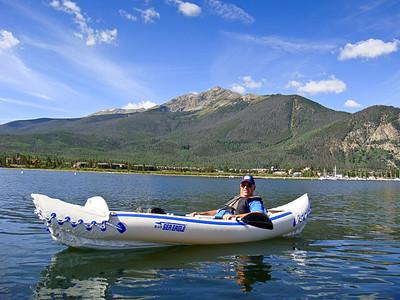 Kayaking on Lake Dillon