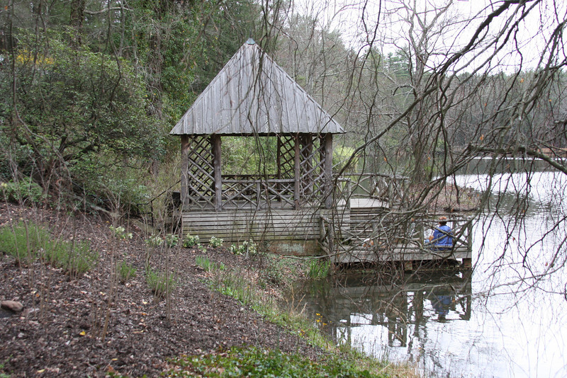 The boat house by the Bass Pond.