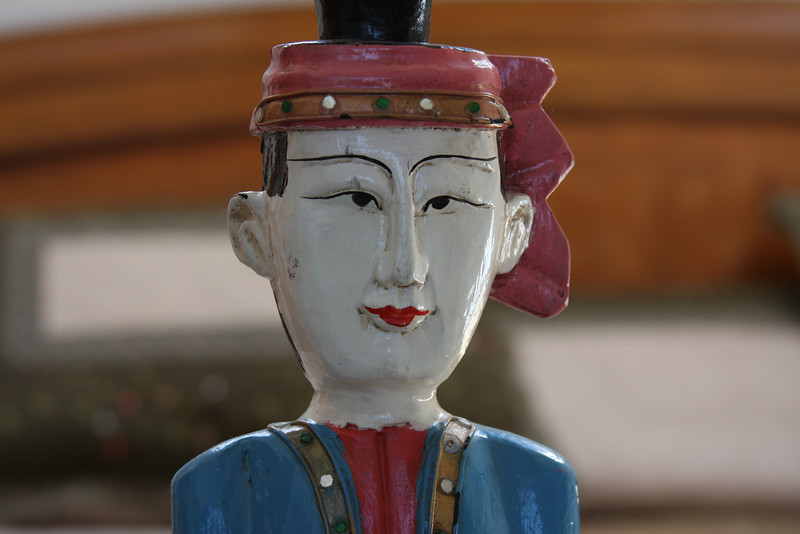 A Thai (Betsy and Ann correct me if I'm wrong) wood-carved figure.