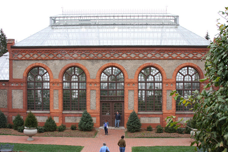 A look at the Conservatory from the Walled Garden. Inside were many of the plants that grow in Florida.