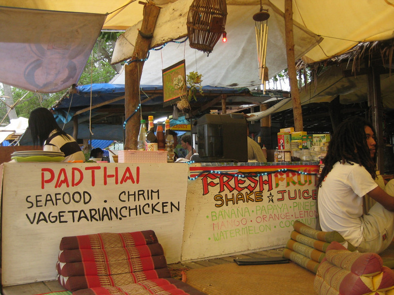 Bamboo bar in Railay Beach (East)