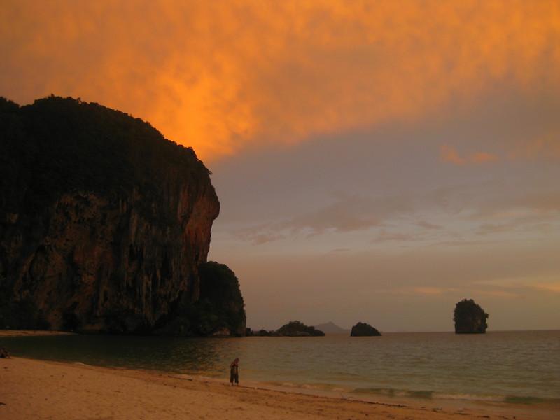 Sunset at railay