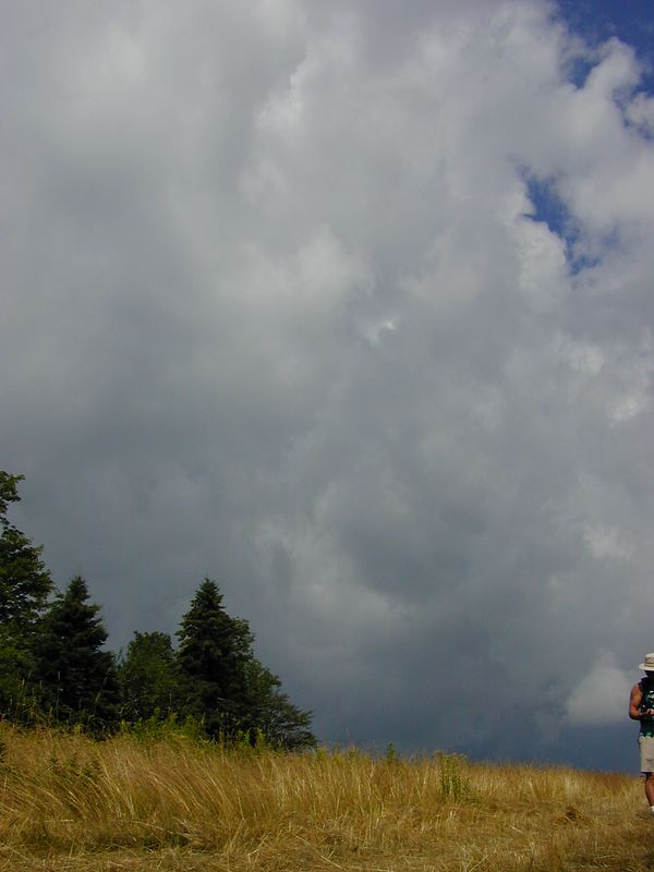 Storm clouds over Rangeley from Whammy's Hill