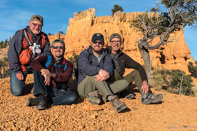 Gary, Jeff, Wesley, and Jerry - on the Arches Trail