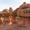 The Window (or arches) in the Red Canyon - Arches Trail