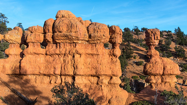 Oddly eroded formation along the Arches Trail