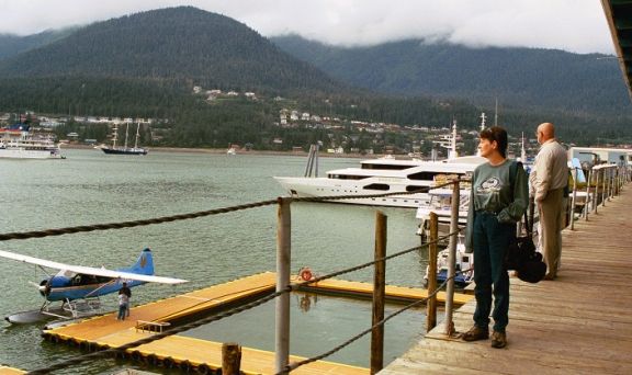 Downtown Juneau, the capital city, where float planes are almost as common as boats. There are no roads into Juneau from anywhere in Alaska or Canada, so everyone and everything is either flown in or shipped in from elsewhere.