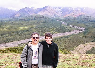 Rick and Wendy on Polychrome Pass in Denali Nat'l Park.