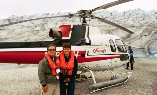 Our four glacier helicopter tour has landed on the Norris Glacier in the Juneau Icefield. It's pretty cool place to be on a summer day!