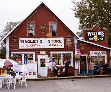 Beautiful, funky downtown Talkeetna. Nagley's Store, which carries almost everything, has been in business since 1921.