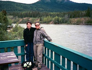 At our hotel in McKinley Village (near Denali Nat'l Park) along the Nenana River, our first train stop for the night.