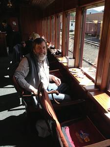 Ken in the Parlor Car, Cumbres-Toltec line.