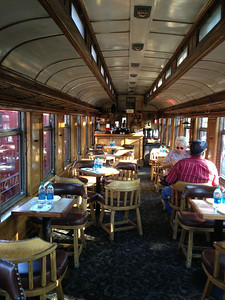 Parlor car interior -- just before most of the passengers arrived.