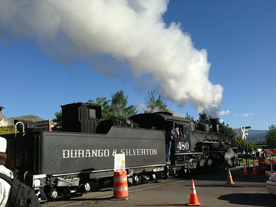 We arrived at the Durango (Colorado) station just as one early morning train was leaving.