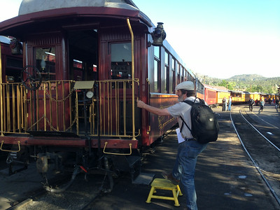 Ken entering the Parlor Car.