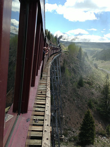 Cascade Trestle -- highest bridge on the line, 137 feet above Cascade Creek.