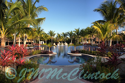 The adult pool at the Barcelo Maya Palace.  It was very tranquil in the early morning.