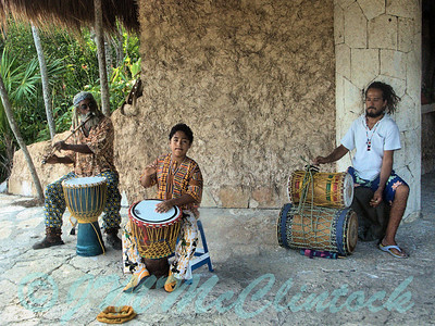 Musicians at the Entrance to Xel Ha National Park
