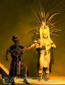 Part of the nightly entertainment.  This is a scene from the Mexican night.  Grand Sirenis.  Riveria Maya.