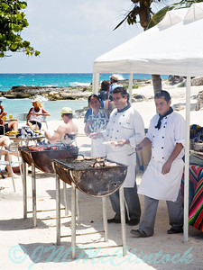 This barbeque was set up right next to the beach front cabana.  Grand Sirenis.  Riviera Maya.