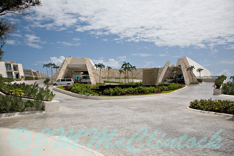 Entrance to the Grand Sirenis Resort.  This is on the Mayan Riviera near Akumal.