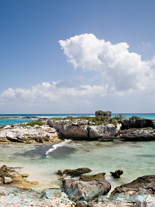 Another shot of the spanish lookout ruins.  Shot at mid day. Grand Sirenis Resort.  Mayan Riviera, Mexico.