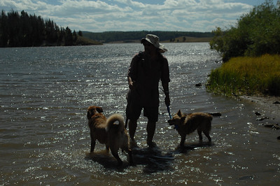 Dwaine running the dogs at Steamboat Springs Lake, Colorado
