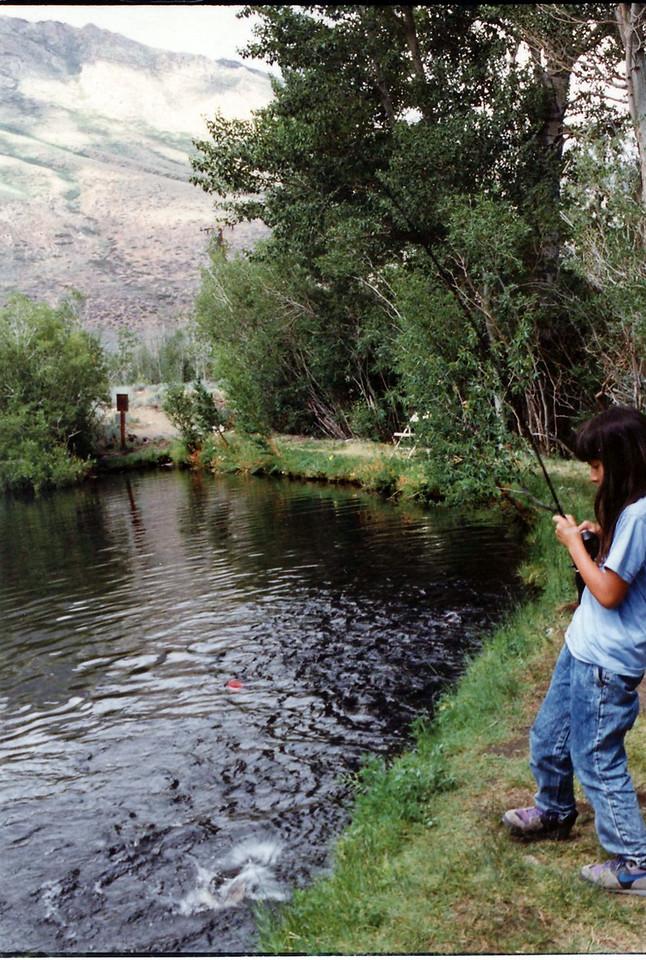 Sara fishing at McGee Creek