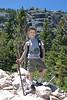 Hayden's hiker pose - his idea.