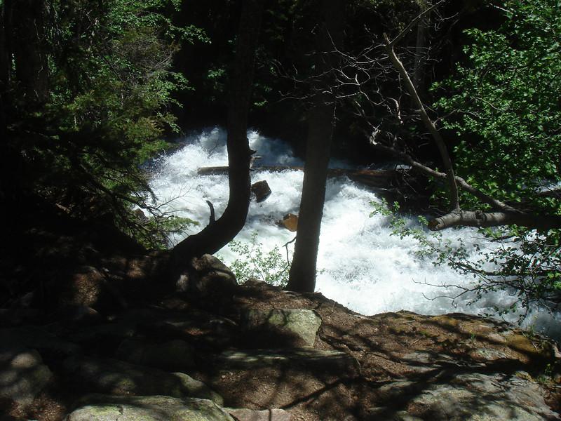 Part of Fern Falls below trail.